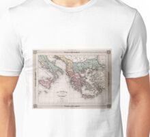 Vintage Map of Greece and Italy (1852) Unisex T-Shirt