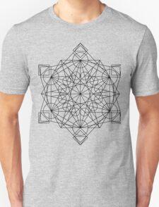 The sacred geometry line mandala T-Shirt