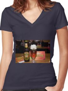 Brackie Pale Ale Women's Fitted V-Neck T-Shirt