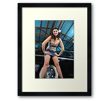 Beth and a Ford Framed Print