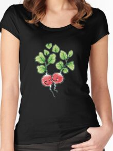 Veggie Lovin' white lining Women's Fitted Scoop T-Shirt