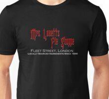 Mrs. Lovett's Pie Shoppe (Red/White) Unisex T-Shirt