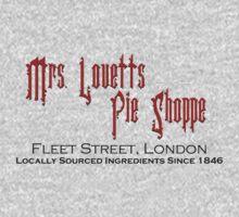 Mrs. Lovett's Pie Shoppe (Red/Black) One Piece - Long Sleeve