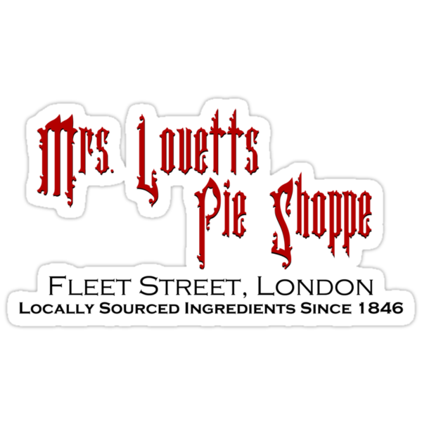 Mrs. Lovett's Pie Shoppe (Red/Black) by Anglofile