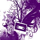 Purple Cassette Splatter Case by Jenifer Jenkins