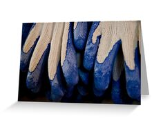 Udderly Blue, Knit Gloves Greeting Card