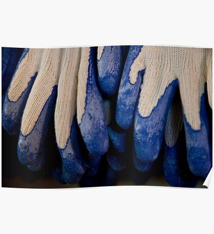 Udderly Blue, Knit Gloves Poster