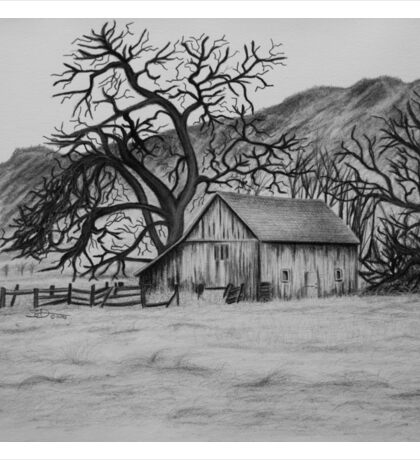 """Peaceful Valley"" - Charcoal/Graphite  Sticker"