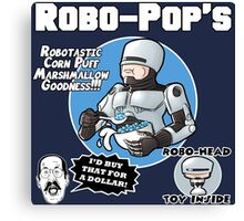 RoboPops Cereal Box Mashup Canvas Print