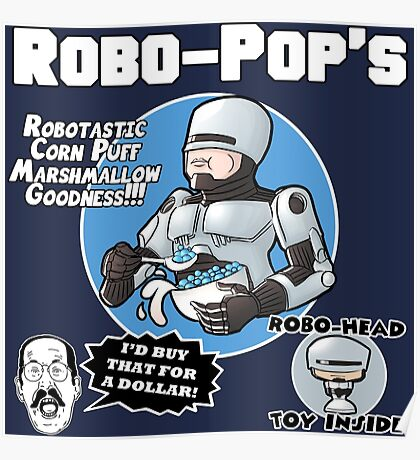 RoboPops Cereal Box Mashup Poster