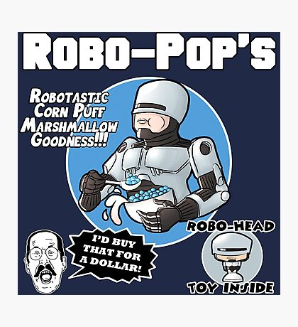 RoboPops Cereal Box Mashup Photographic Print
