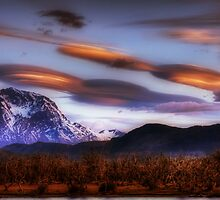 Lenticular Clouds over Torres del Paine by Peter Hammer