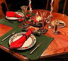 Quiet Christmas Table For Two by heatherfriedman