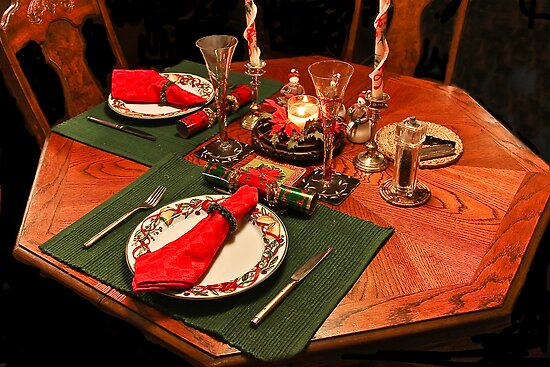 Quiet Christmas Table For Two by Heather Friedman