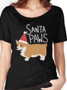 Holiday Corgi - Santa Paws - Puppy Women's Relaxed Fit T-Shirt