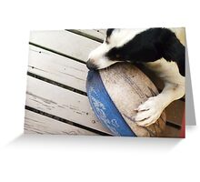 Lets Play Footy! Greeting Card