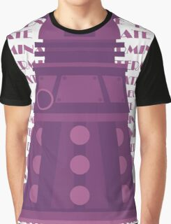 Exterminate Purple Graphic T-Shirt