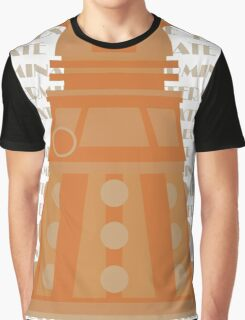 Exterminate Orange Graphic T-Shirt