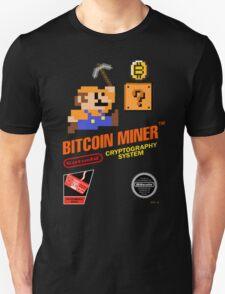 Bitcoin Geek Nintendo Gaming Funny Mario Mashup  T-Shirt