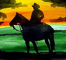 Sunset Cowboy by Leeanne Middleton