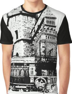 London Composite Pen and Ink Graphic T-Shirt