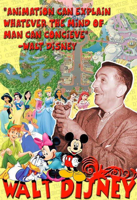 Walt Disney Poster by JohnRex