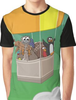 Balloon Birds (flight of the flightless) Graphic T-Shirt
