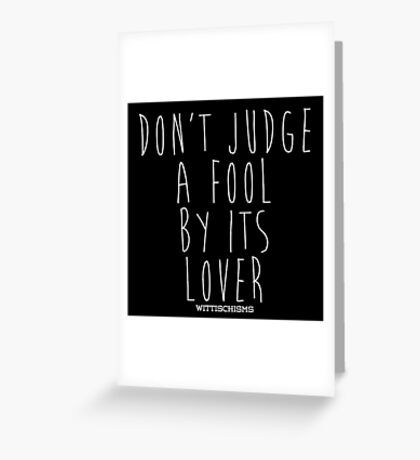 Don't Judge A Book By Its Cover Greeting Card