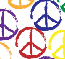 Peace Sign T-Shirt Sticker