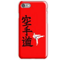 Karate do with side kick guy (with logo) iPhone Case/Skin