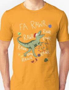 T-Rex Christmas Dinosaur - Dinosaur Christmas Unisex T-Shirt