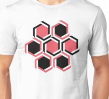 Red and black geometric beehive Unisex T-Shirt