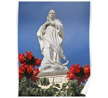 Mother Mary In Red Poster
