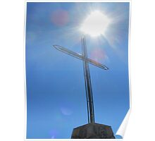 Sun-Touched Cross Poster