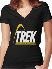Trek Space Adventure Company Women's Fitted V-Neck T-Shirt