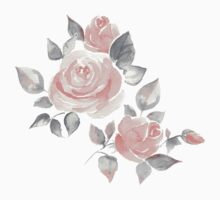 Beautiful roses. Hand-drawn  watercolor flowers  Kids Clothes