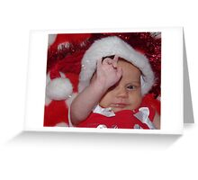 Rock On Father Christmas! Greeting Card