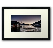Twilight on Lake Wakatipu, Queenstown Framed Print