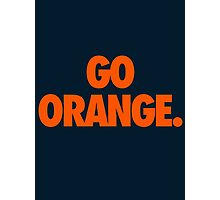 GO ORANGE. Photographic Print