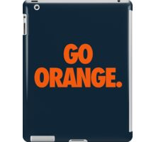 GO ORANGE. iPad Case/Skin