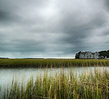 """""""Ominous Skies Over The Inlet"""" - Murrells Inlet, South Carolina by Edith Reynolds"""