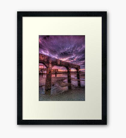Trestle under sky Framed Print