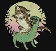K-Rex & Pugosaurus by wytrab8