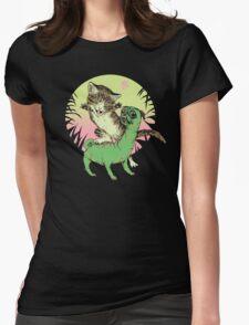 K-Rex & Pugosaurus Womens Fitted T-Shirt