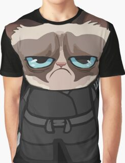 Grumpy Ninja Cat Graphic T-Shirt
