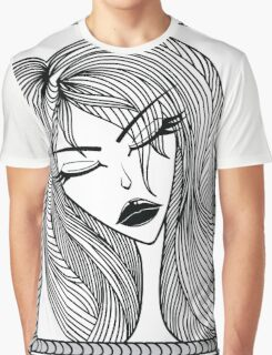 Glamour pattern with beautiful girl. Graphic T-Shirt