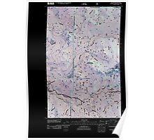 USGS Topo Map Washington State WA Glacier 20110425 TM Inverted Poster