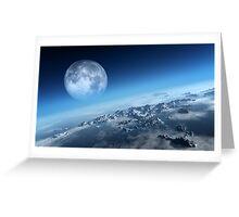 Earth icy ocean aerial view Greeting Card