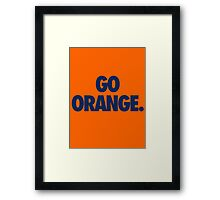 GO ORANGE. - Alternate Framed Print