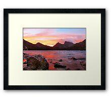 a Cradle Dawn  Framed Print